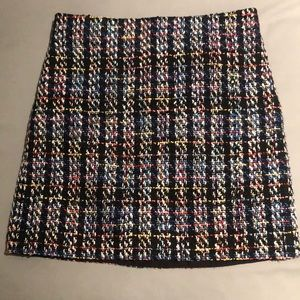 Jcrew plaid textured skirt size 2